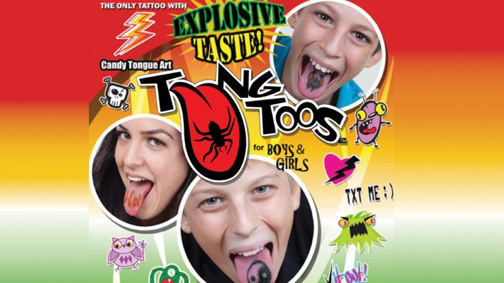 Tongue Tattoos Brand Vending Products